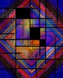 De Stijl van Mondrian van huren royalty-vrije stock afbeelding