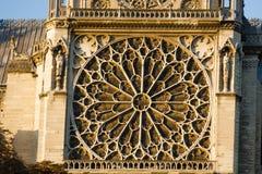 De stijl van Notredame de paris cathedral gothic Architecturale details Royalty-vrije Stock Foto