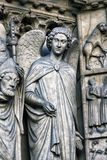 De stijl van Notredame de paris cathedral gothic Architecturale details Stock Foto