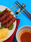 De stijl van Vietnam van de rundvleessalade Stock Foto