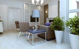 De stijl van woonkamer avang-garde Stock Afbeelding