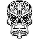 De Stijl van Zentangle van het schedelpictogram Royalty-vrije Stock Afbeeldingen