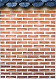 De stijlbakstenen muur van Korea Stock Afbeelding