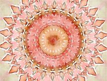 De stijlbloem van caleidoscoopmehndi met de illustratie van de cirkelswaterverf Royalty-vrije Stock Foto