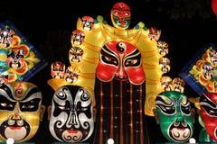 De stijlen van de Opera van Peking van lantaarns van make-up Stock Afbeelding