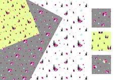 De stijlen van het paaseieren naadloze patroon textuur als achtergrond stock illustratie