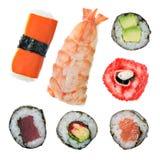 De Stijlen van sushi royalty-vrije stock afbeeldingen