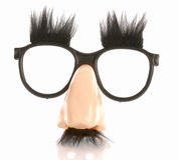 De stijlglazen van Groucho marx Royalty-vrije Stock Afbeelding