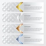 De stijlgoud van het bannerweefsel, brons, zilveren, blauwe kleur Stock Foto's