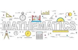 De stijlillustratie van de wiskundelijn Royalty-vrije Stock Afbeeldingen
