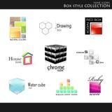 De stijlinzameling van de doos royalty-vrije illustratie