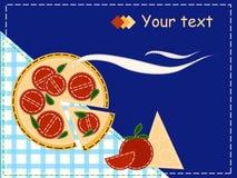 De stijllapwerk van de pizza vector illustratie