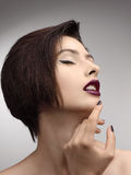 De Stijlmannequin Girl van schoonheidsvogue stock fotografie
