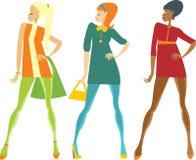 De stijlmeisjes van jaren '60 Stock Foto's