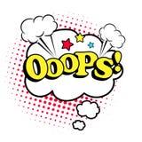 De stijlpictogram van het Ooopspop-art Stock Afbeeldingen