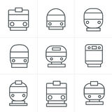 De Stijlreeks van lijnpictogrammen vervoerpictogrammen Royalty-vrije Stock Afbeeldingen