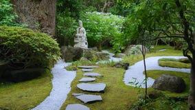 De stijltuin van Japan in Kamakura stock video