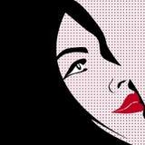 De stijlvrouw van het pop-art Royalty-vrije Illustratie