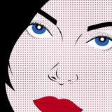 De stijlvrouw van het pop-art Stock Illustratie