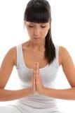 De stille meditatie van de vrouw stock foto