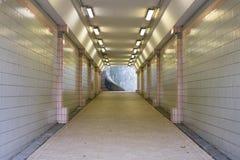 De stille ondergrondse stad van Singapore van de tunnelgang dit beeld voor Royalty-vrije Stock Foto
