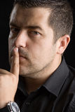 De stilte, het is een geheim Stock Foto's