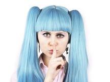 De stilte, shh, het is een geheim! Royalty-vrije Stock Foto