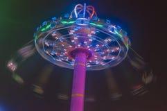 De stimulatie van roterende vliegende stoel Stock Foto's