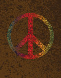 De Stippen van het vredessymbool op Textuurachtergrond Royalty-vrije Stock Foto