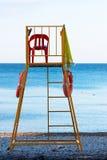De stoel van de badmeester Royalty-vrije Stock Afbeeldingen