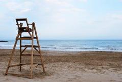 De stoel van de badmeester Stock Afbeelding
