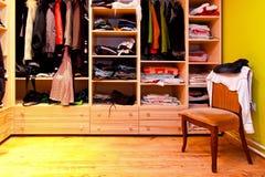 De stoel van de garderobe Stock Foto's