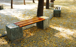 De stoel van de herfst royalty-vrije stock afbeeldingen
