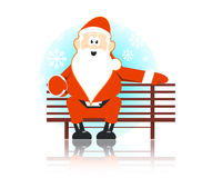 De stoel van de kerstman Royalty-vrije Stock Fotografie