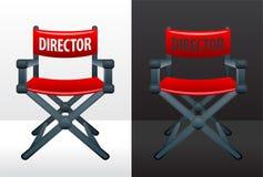 De stoel van de regisseur Stock Foto's