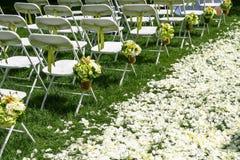 De stoel van het huwelijk stock afbeeldingen