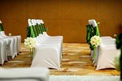 De stoel van het huwelijk stock afbeelding