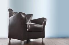 De stoel van het leer Stock Foto