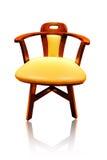 De stoel van het leer Stock Foto's