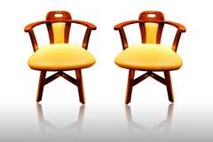 De stoel van het leer Stock Afbeeldingen