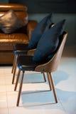 De stoel van het leer Royalty-vrije Stock Foto