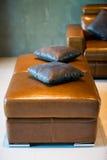 De stoel van het leer Stock Afbeelding