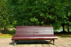De stoel van het park Stock Fotografie