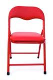De stoel van het rode kind op wit Royalty-vrije Stock Afbeeldingen