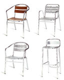 De stoel van het staal stock afbeeldingen