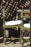 De stoel van Marrocos riad Royalty-vrije Stock Foto's