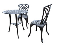 De stoelen en de lijst van het terras Stock Fotografie