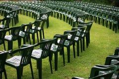 De stoelen van de auditie royalty-vrije stock afbeelding