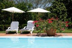 De stoelen van de pool Royalty-vrije Stock Foto