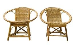 De stoelen van de rotan Royalty-vrije Stock Foto